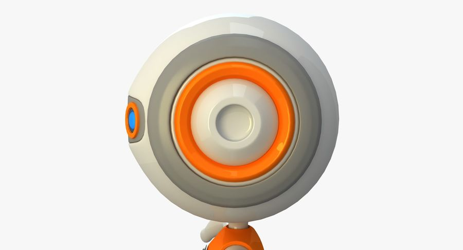 Super hero Robot royalty-free 3d model - Preview no. 14