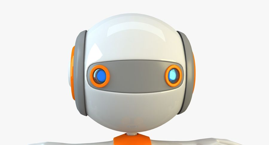 Super hero Robot royalty-free 3d model - Preview no. 16