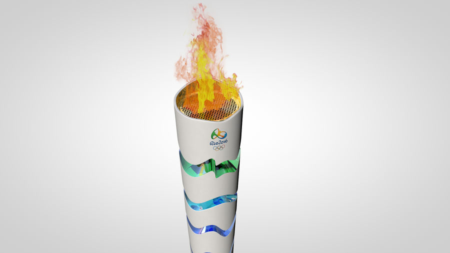 Torcia olimpica 2016 royalty-free 3d model - Preview no. 2