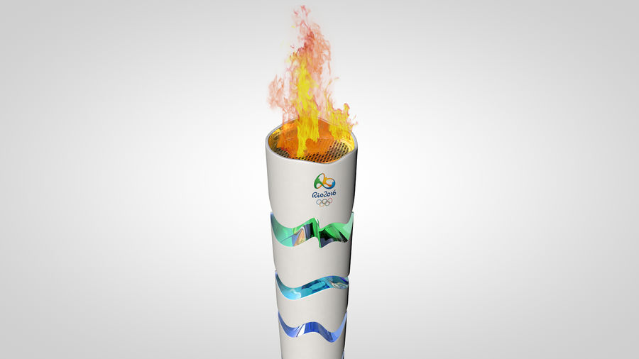 Torcia olimpica 2016 royalty-free 3d model - Preview no. 10