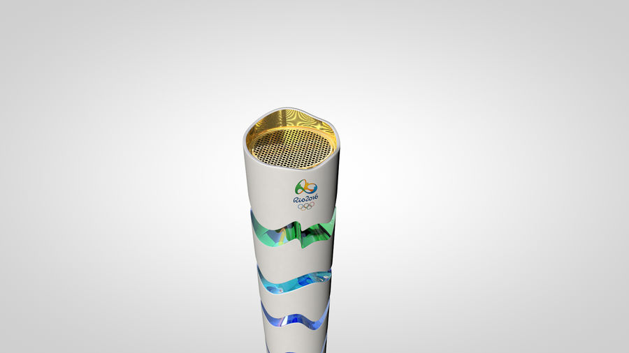Torcia olimpica 2016 royalty-free 3d model - Preview no. 6