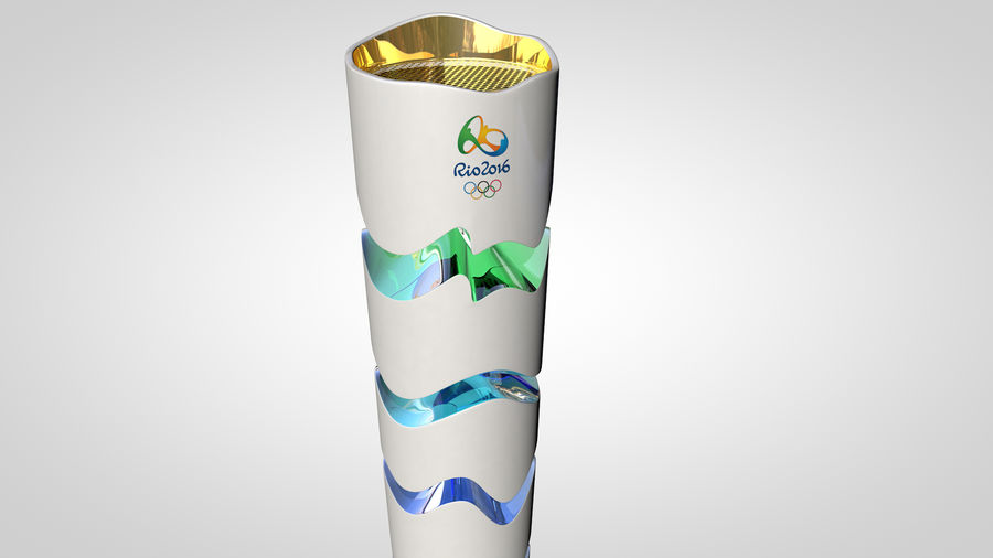 Torcia olimpica 2016 royalty-free 3d model - Preview no. 9