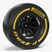 Roda de Fórmula Um 3d model