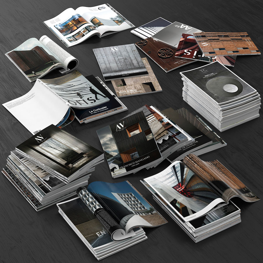 Magazines Open royalty-free 3d model - Preview no. 2