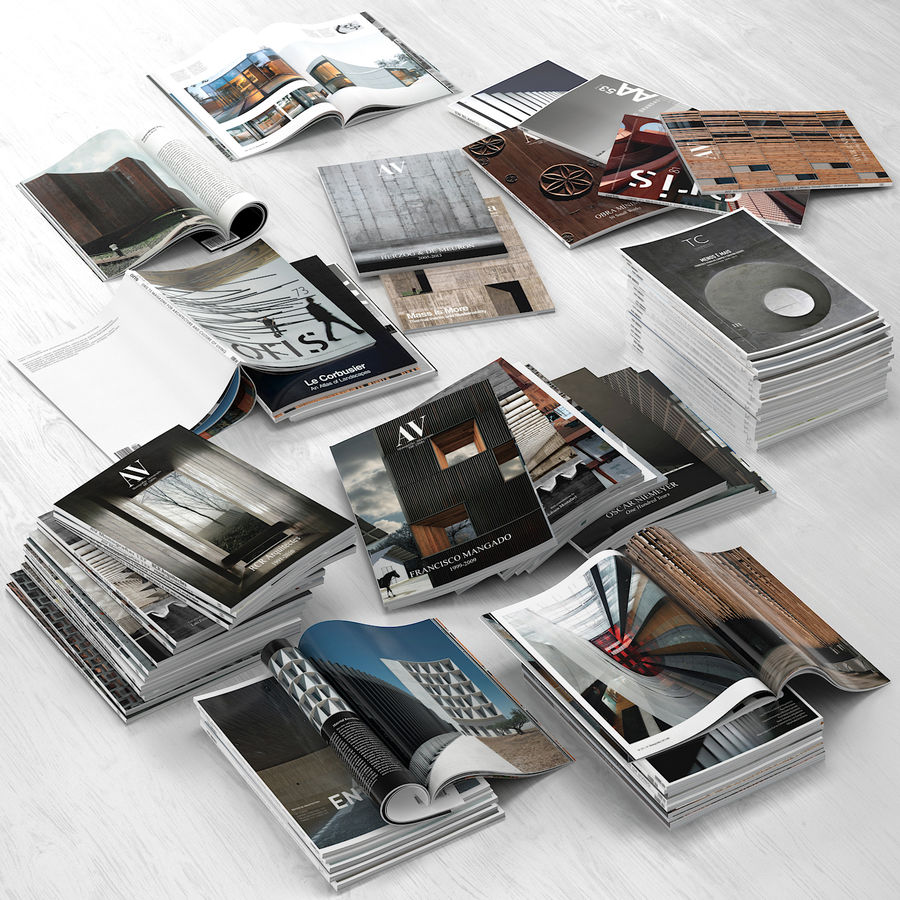 Magazines Open royalty-free 3d model - Preview no. 3