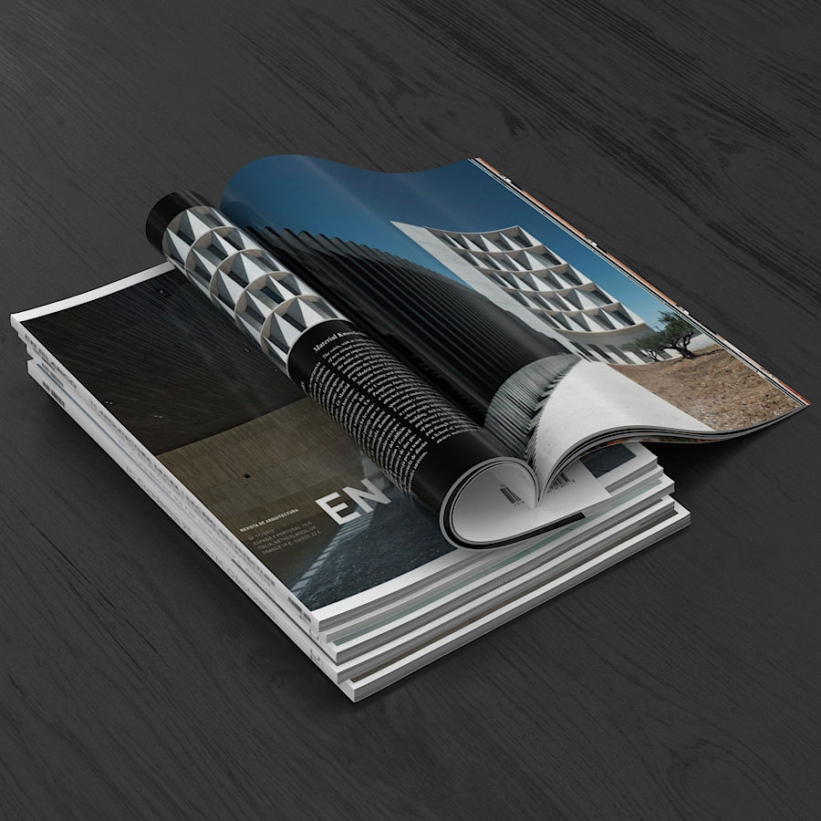 Magazines Open royalty-free 3d model - Preview no. 7