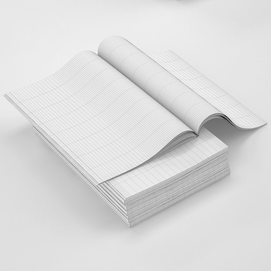 Magazines Open royalty-free 3d model - Preview no. 23