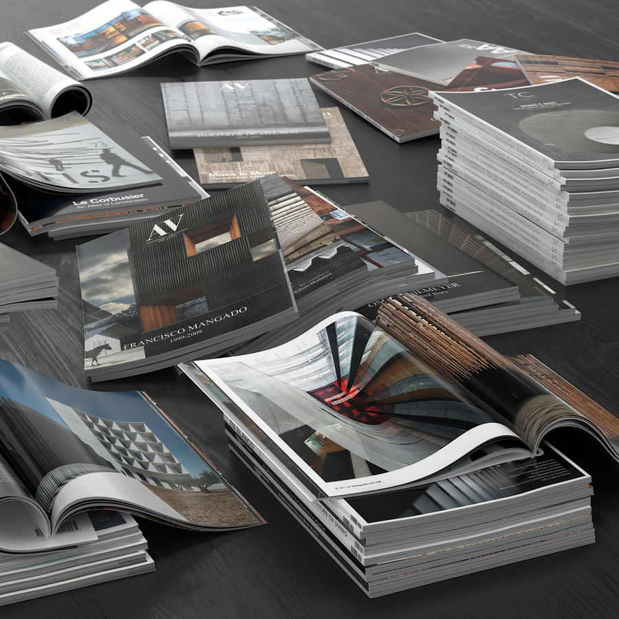Magazines Open royalty-free 3d model - Preview no. 4