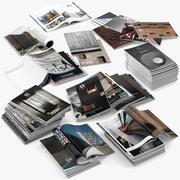 Dergiler Açık 3d model