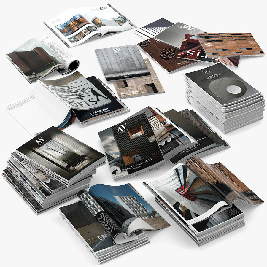 Magazines Open royalty-free 3d model - Preview no. 1