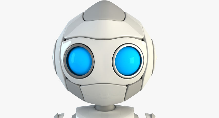 Robot Android Character royalty-free 3d model - Preview no. 4