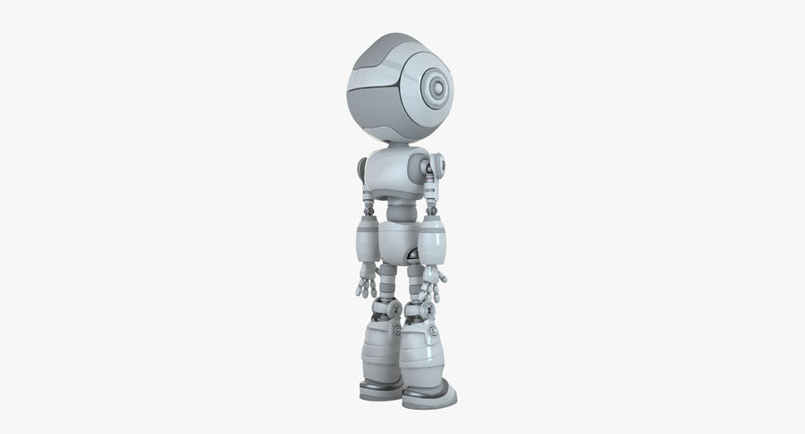 Robot Android Character royalty-free 3d model - Preview no. 2