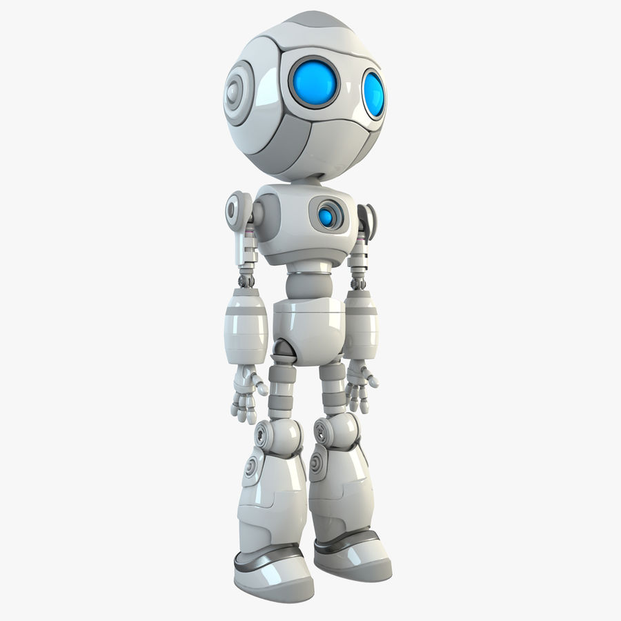 Robot Android Character royalty-free 3d model - Preview no. 1