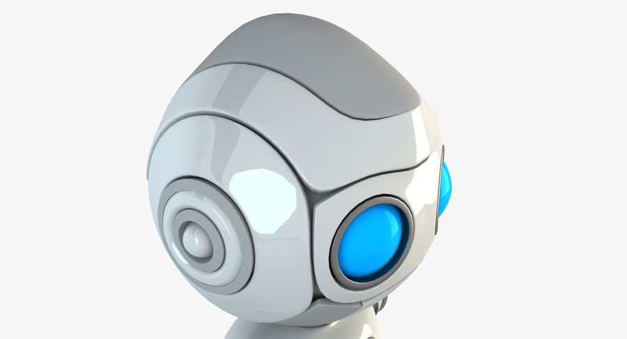 Robot Android Character royalty-free 3d model - Preview no. 5