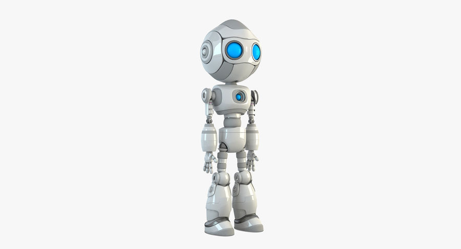 Robot Android Character royalty-free 3d model - Preview no. 3