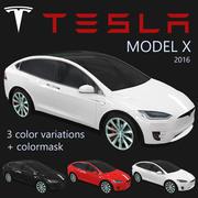 Tesla Model X 2016 PBR 3d model