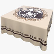 Textured Square Tablecloth 3d model