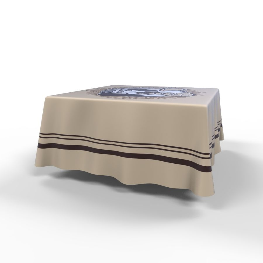Textured Square Tablecloth royalty-free 3d model - Preview no. 3