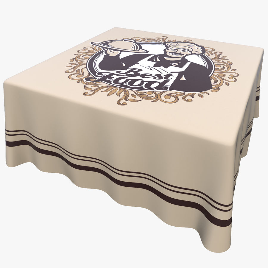 Textured Square Tablecloth royalty-free 3d model - Preview no. 1