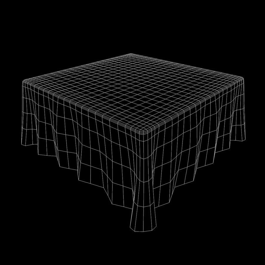 Textured Square Tablecloth royalty-free 3d model - Preview no. 9