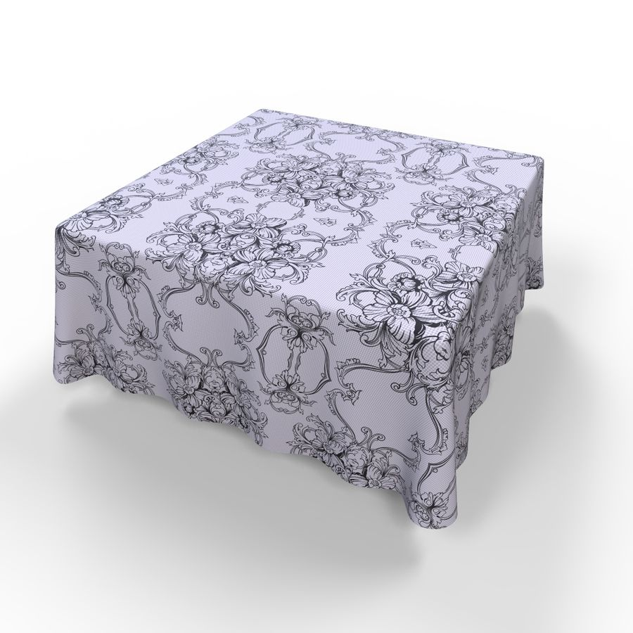 Textured Square Tablecloth royalty-free 3d model - Preview no. 6