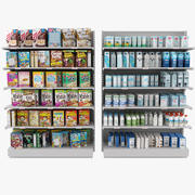 Market Display Shelves 3d model