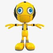 Yellow Robot 3d model