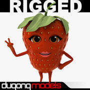 Cartoon Stawberry Rigged 3d model