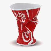 Crumpled Drink Cup Coca Cola 3d model