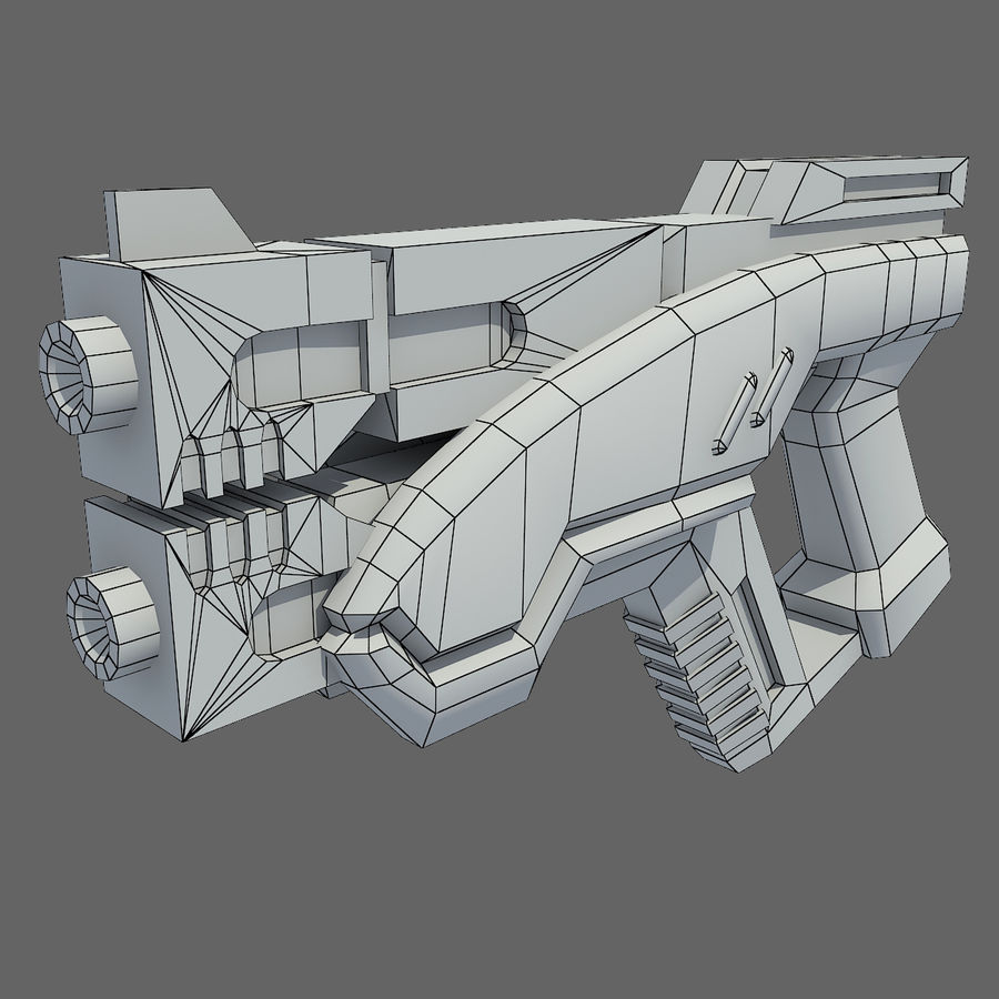 geweer royalty-free 3d model - Preview no. 11
