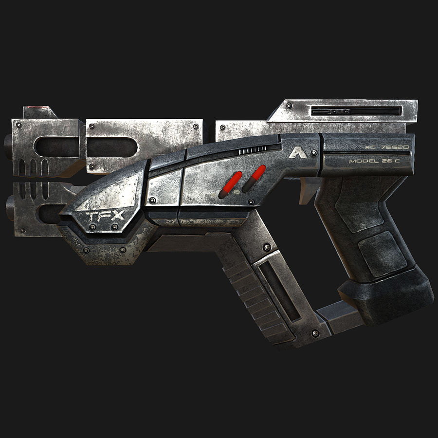 geweer royalty-free 3d model - Preview no. 3