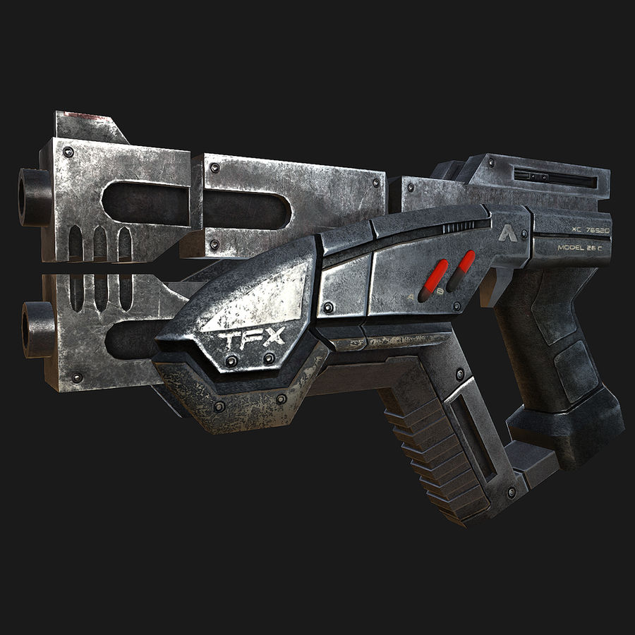 geweer royalty-free 3d model - Preview no. 2