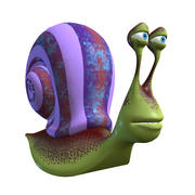 Cartoon mature Snail 3d model