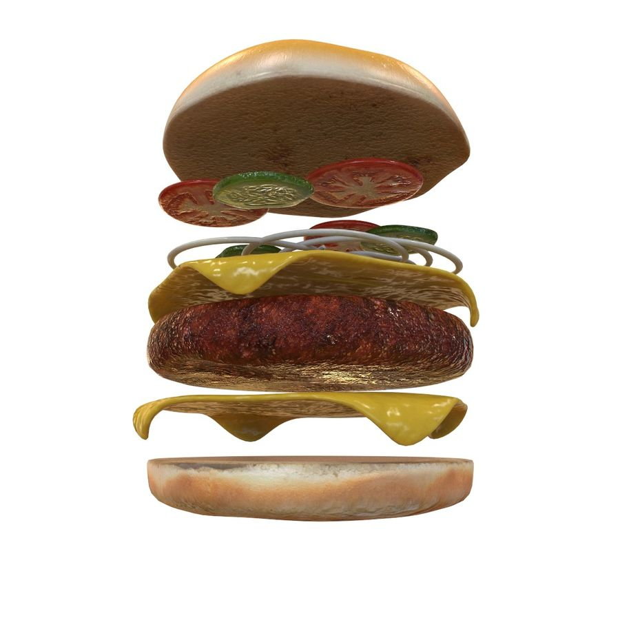 Hamburger Double royalty-free 3d model - Preview no. 2