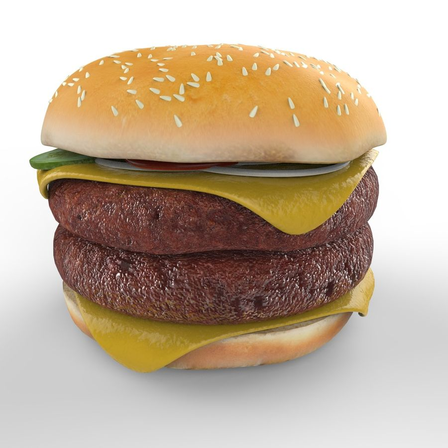 Hamburger Double royalty-free 3d model - Preview no. 4