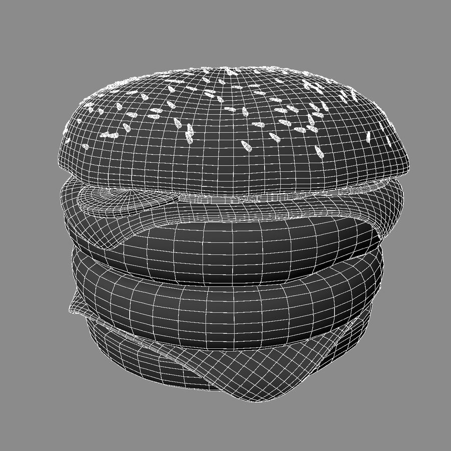 Hamburger Double royalty-free 3d model - Preview no. 7