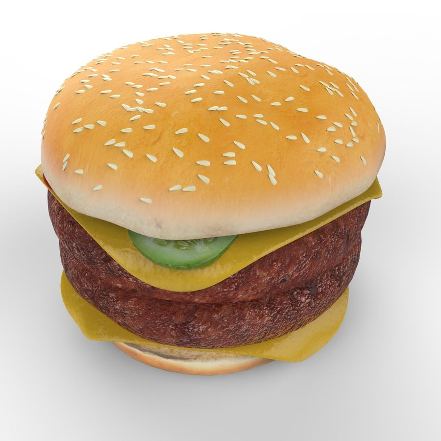 Hamburger Double royalty-free 3d model - Preview no. 5