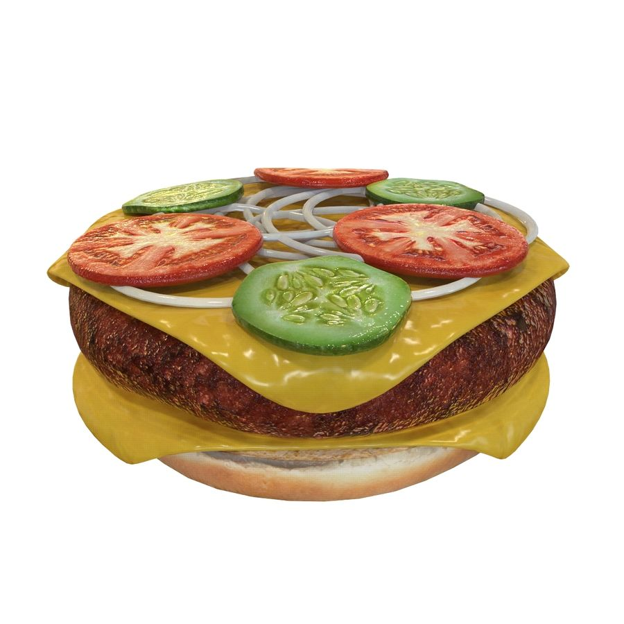 Hamburger Double royalty-free 3d model - Preview no. 3