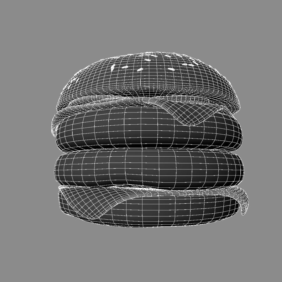 Hamburger Double royalty-free 3d model - Preview no. 8