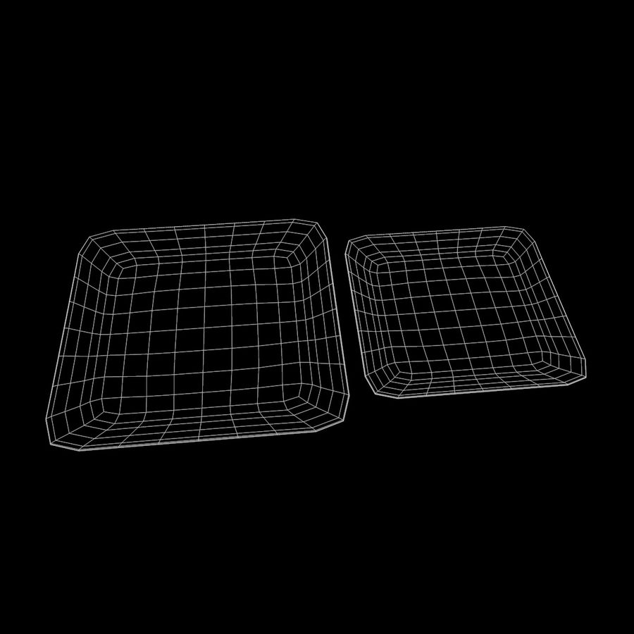 Plate Square V3 royalty-free 3d model - Preview no. 9