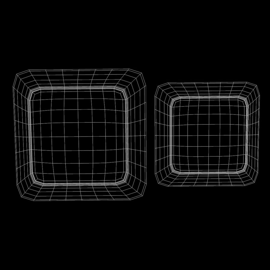 Plate Square V3 royalty-free 3d model - Preview no. 10