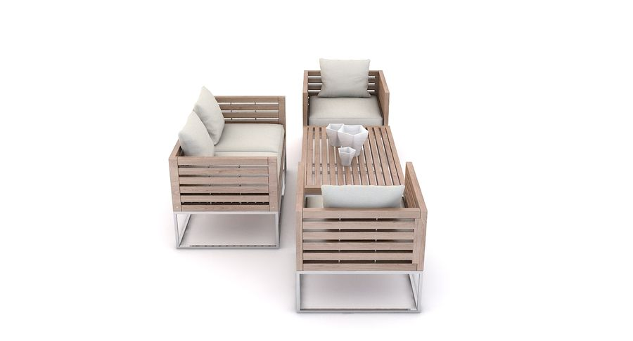 Wondrous Patio Furniture Bermuda 3D Model 39 Unknown Max Fbx Machost Co Dining Chair Design Ideas Machostcouk
