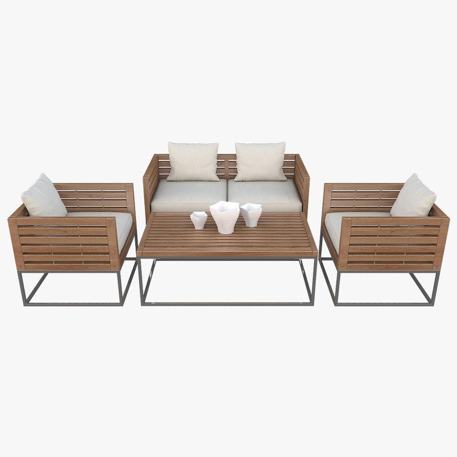 Pleasing Patio Furniture Bermuda 3D Model 39 Unknown Max Fbx Machost Co Dining Chair Design Ideas Machostcouk