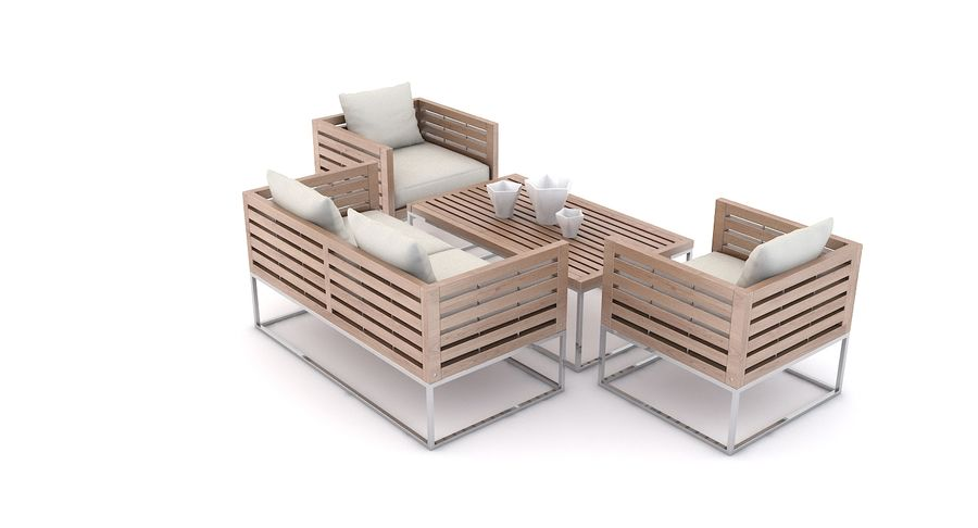 Groovy Patio Furniture Bermuda 3D Model 39 Unknown Max Fbx Machost Co Dining Chair Design Ideas Machostcouk