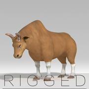 touro manipulado 3d model