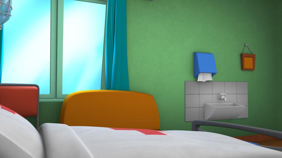 Cartoon ward royalty-free 3d model - Preview no. 4