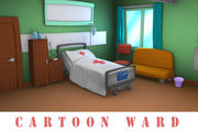 Cartoon ward 3d model
