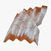 Corrugated Metal Sheets Bent - Small 3d model