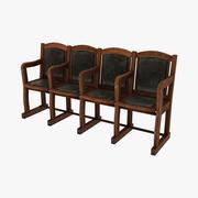 Viejas sillas plegables modelo 3d