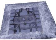 Street Gas Cover Manhole Cover 3d model